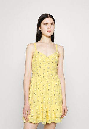 BARE SHORT DRESS - Korte jurk - yellow