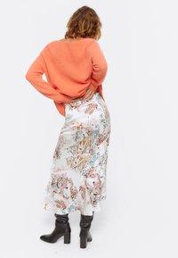 Uterqüe - A-line skirt - beige - 2