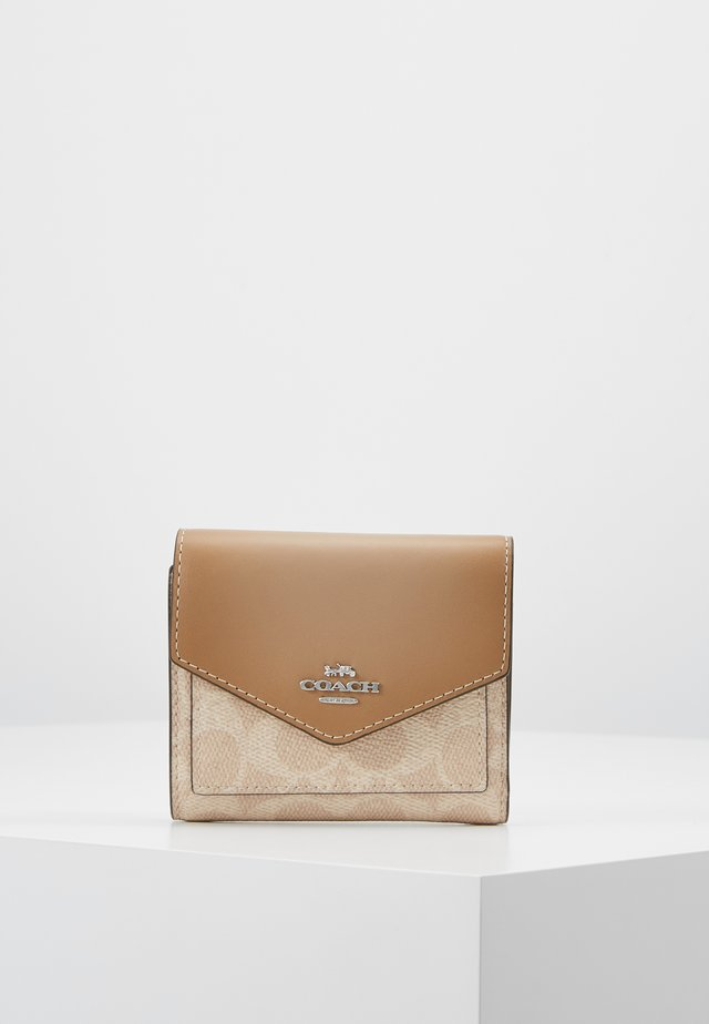 COLORBLOCK SIGNATURE SMALL WALLET - Lompakko - sand taupe