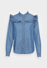 Springfield - CAMISA VOLANTES - Overhemdblouse - medium blue - 3
