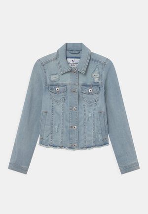 DESTROY CROP - Denim jacket - blue