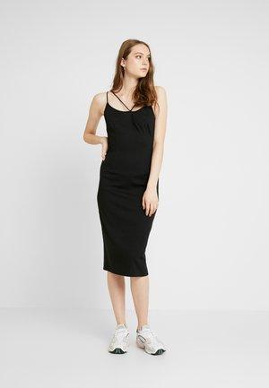 STRAPPY DRESS - Sukienka z dżerseju - black