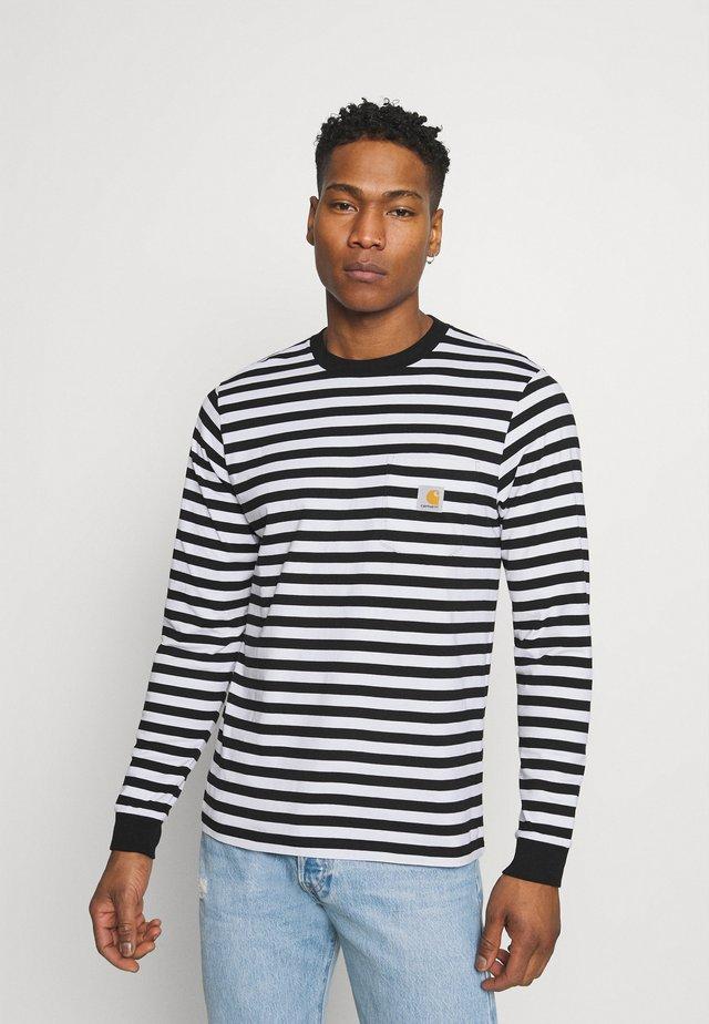 SCOTTY POCKET - T-shirt à manches longues - black/white