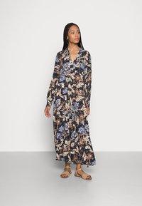 Emily van den Bergh - DRESS - Maxi dress - navy/brown - 0