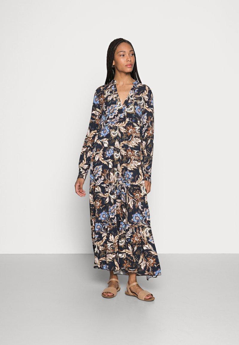 Emily van den Bergh - DRESS - Maxi dress - navy/brown