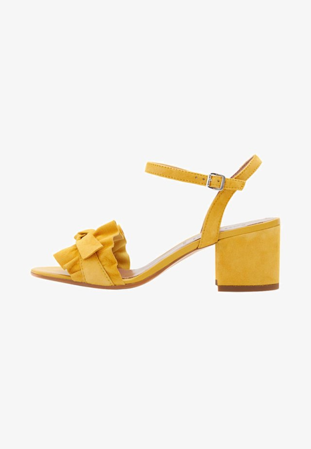 VALENTINA - Sandals - yellow