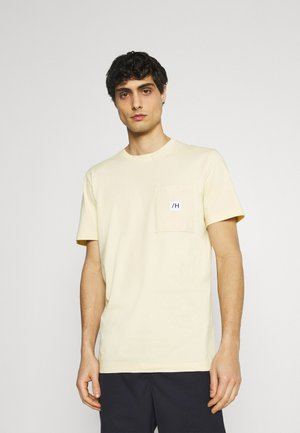 SLHENZO POCKET O NECK TEE - T-shirt basic - bleached sand