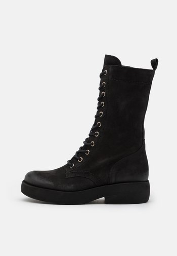 EXTRA - Lace-up boots - pacific black