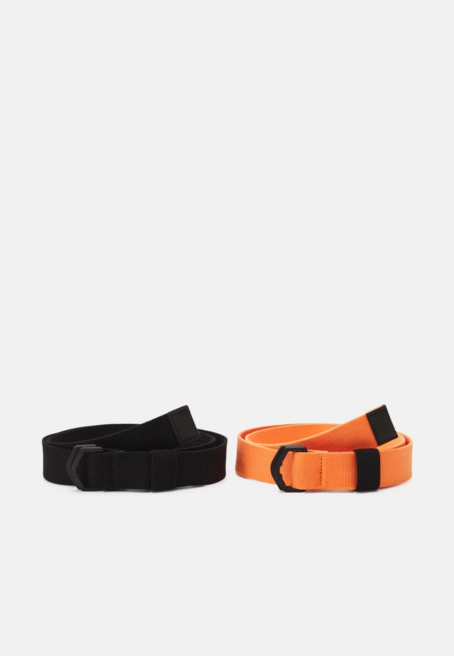 2 PACK UNISEX - Belt - orange/black