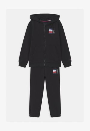GLOBAL STRIPE ZIP SET - Verryttelypuku - black