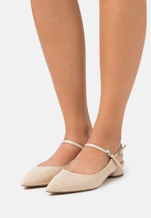Slingback ballet pumps - beige