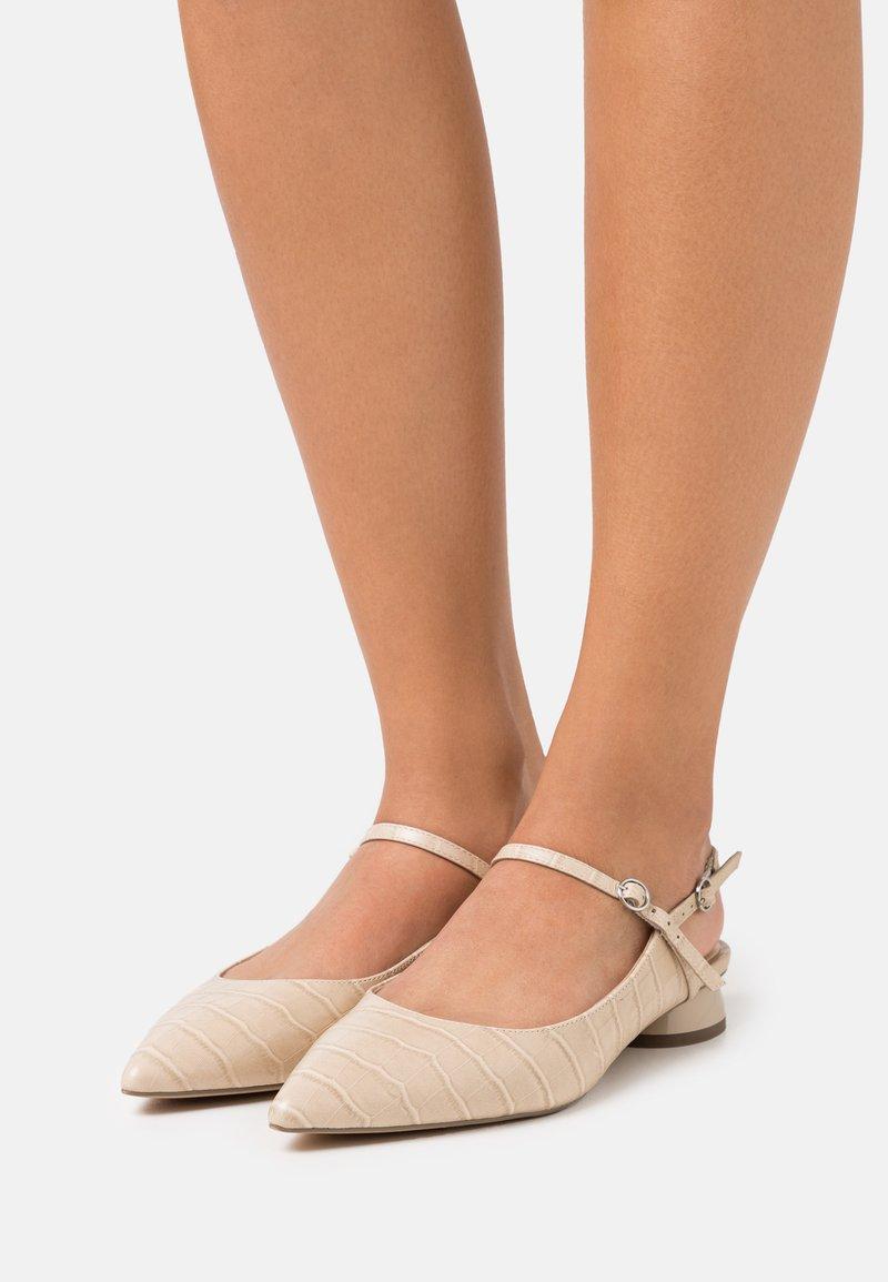 Zign - Slingback ballet pumps - beige