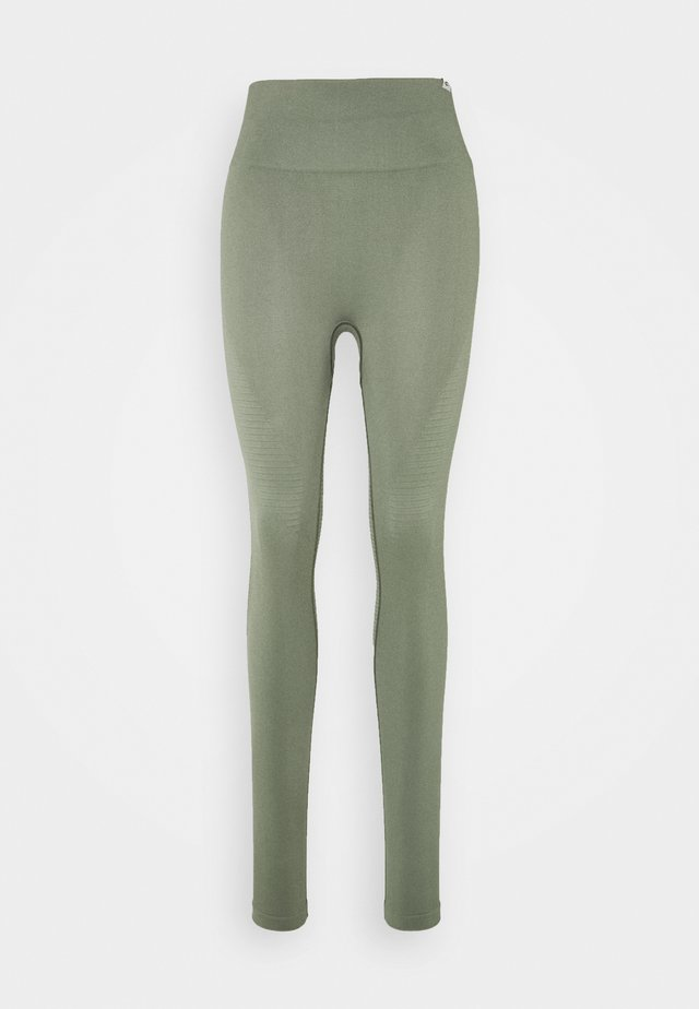 SEAMLESS DAMEN BLOOM - Tights - olive