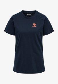Hummel - Basic T-shirt - dark sapphire/fiesta - 0