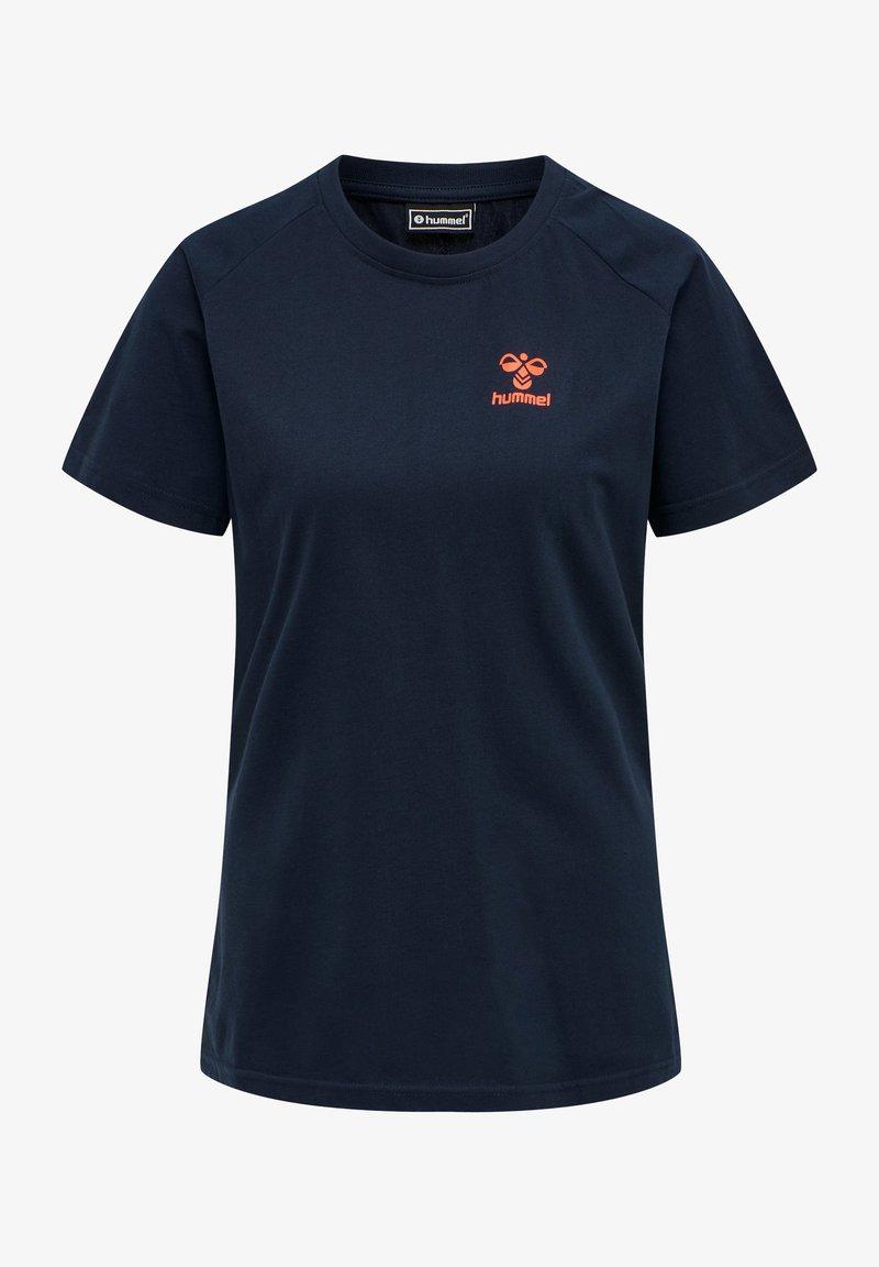 Hummel - Basic T-shirt - dark sapphire/fiesta