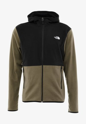 GLACIER FULL ZIP HOODIE - Fleecová bunda - new taupe green/black