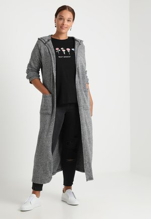 LADIES LONG CARDIGAN - Neuletakki - black/white