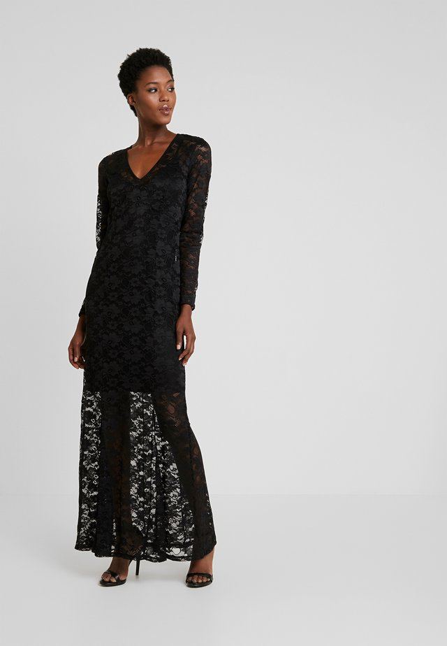 LONG LACE DRESS - Vestido de fiesta - black