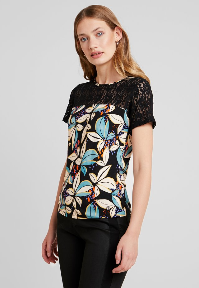 FALA FLOWER - T-shirt con stampa - blue stone