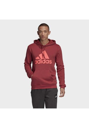 BADGE OF SPORT FRENCH TERRY HOODIE - Bluza z kapturem - red
