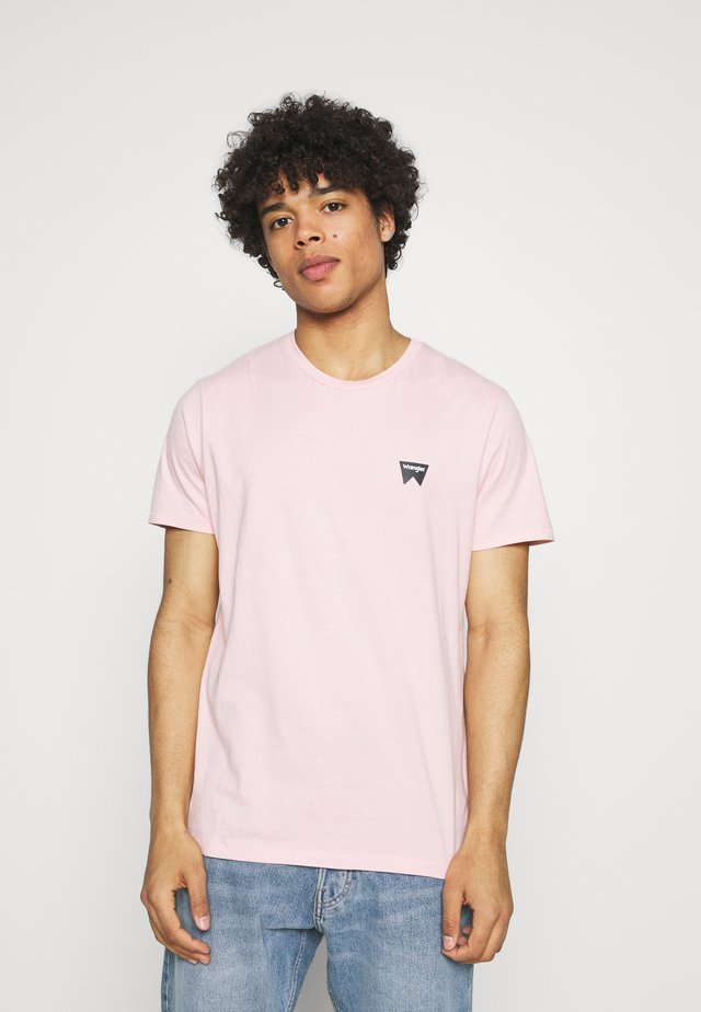 SIGN OFF TEE - Basic T-shirt - silver pink