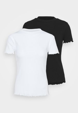2 PACK - T-shirts basic - black/white