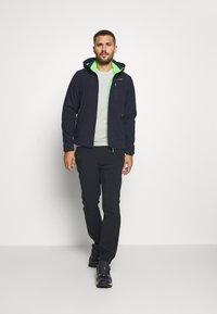 CMP - MAN JACKET ZIP HOOD - Soft shell jacket - blue/verde - 1
