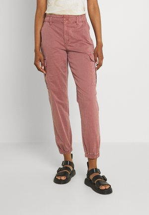 RELAXED MOM JOGGER - Cargo trousers - mauve