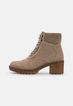 LEATHER  - Kotníková obuv - khaki