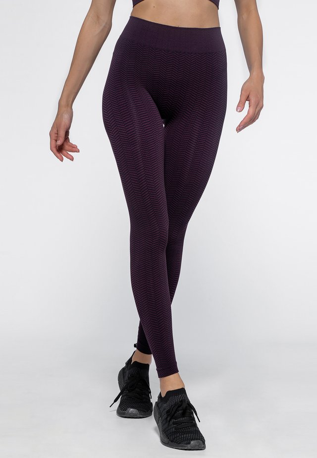 Collants - black/plum