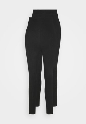 2 pack HIGH WAIST legging - Legging - black