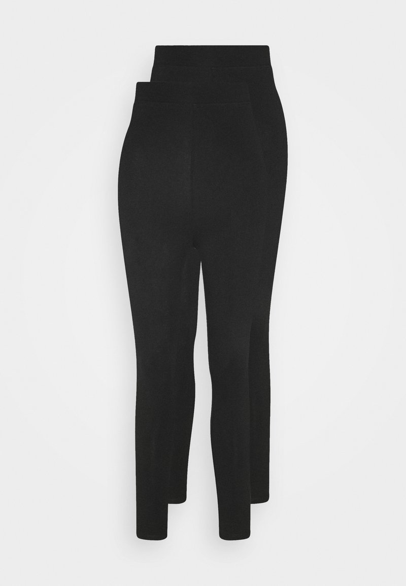 Even&Odd Petite - 2 pack HIGH WAIST legging - Leggings - black