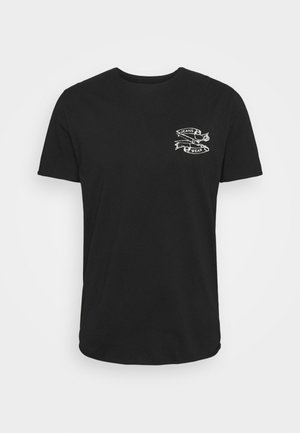 SLHWALTER O-NECK TEE - T-shirt med print - black