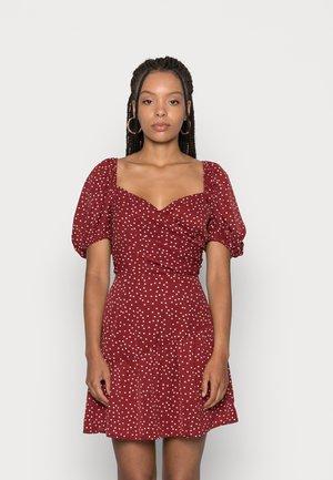 CUTIE DRESS WRAP DRESS - Day dress - dark red