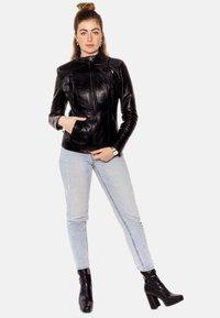 LEATHER HYPE - ARYAN - Leather jacket - black - 6