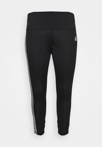 STRIPES DESIGNED MOVE AEROREADY - Leggings - black/white