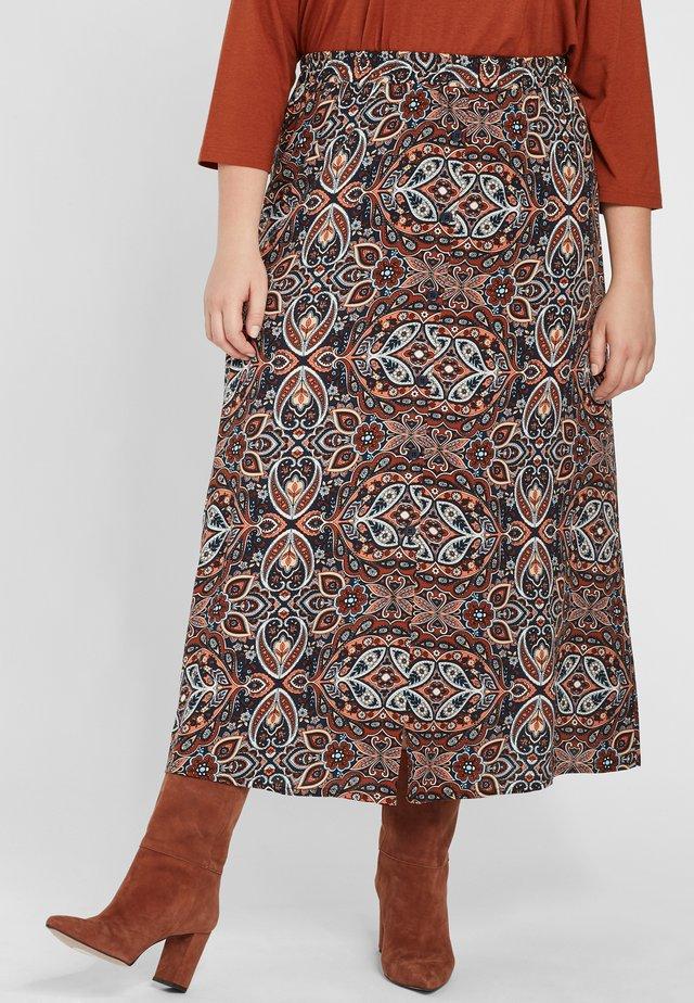 Maxi skirt - cognac