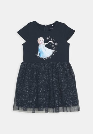 NMFFROZEN REBEC DRESS - Vestito di maglina - dark sapphire