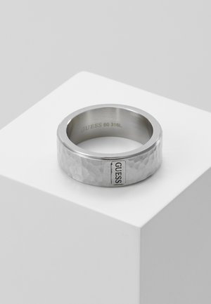 HERO HAMMERED BAND - Ring - silver-coloured
