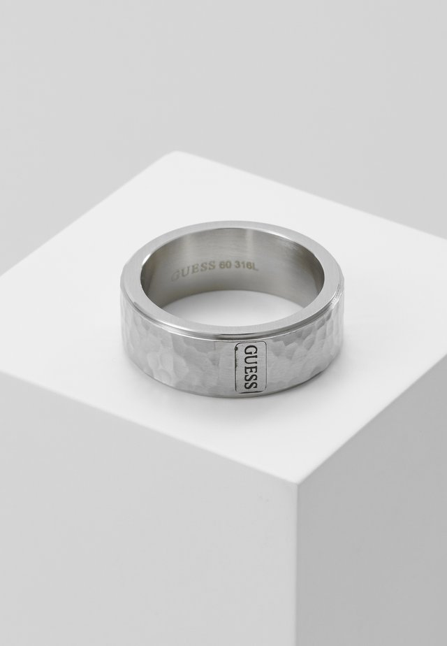 HERO HAMMERED BAND - Bague - silver-coloured