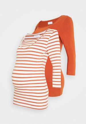 MLLEA NELL MIX 2 PACK - Long sleeved top - auburn/snow white