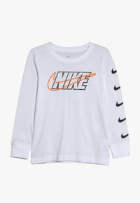 Nike Sportswear - OUTLINED BLOCK TEE - Maglietta a manica lunga - white - 0