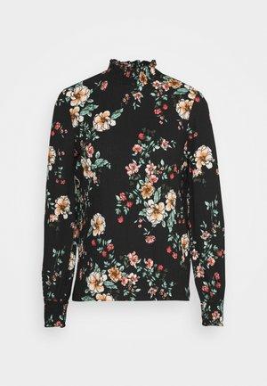 ONLZILLE NAYA SMOCK - Long sleeved top - black/femme