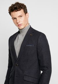 Burton Menswear London - RUST CHECK - Blazere - navy