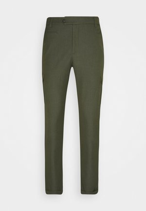 COMO PANTS - Cargo trousers - deep forrest