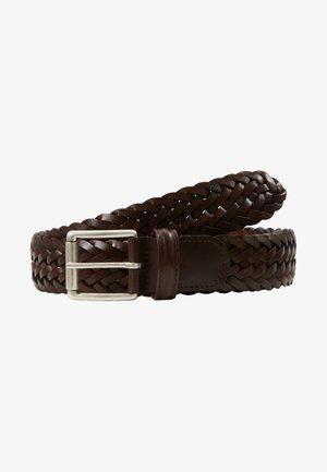 WOVEN BELT - Braided belt - dark brown