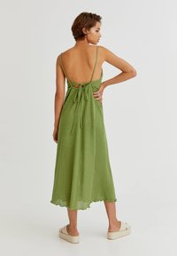 PULL&BEAR - MIT LOCHMUSTER - Day dress - light green - 2