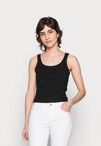 Anna Field - 3 PACK - Topper - black/white /khaki - 1