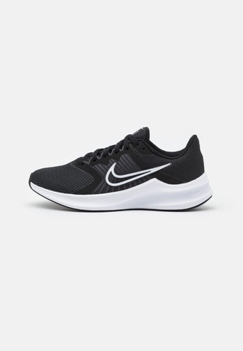 DOWNSHIFTER 11 - Neutral running shoes - black/white/dark smoke grey