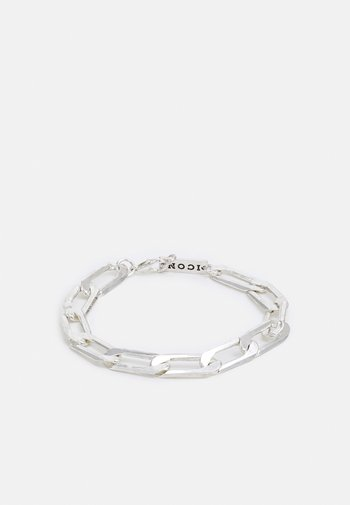 INDUSTRIAL CHAIN BRACELET WITH CLASP - Armband - silver-coloured